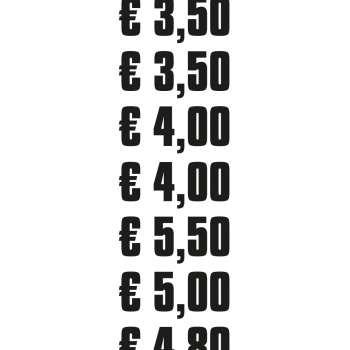 Preis Aufkleber für Eisbecher - 2,00 €