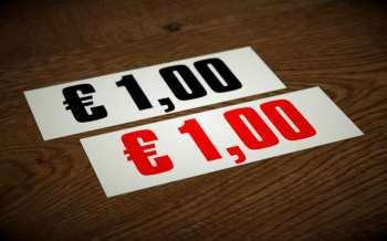 Preis Aufkleber Hintergrundsystem - € 0,50