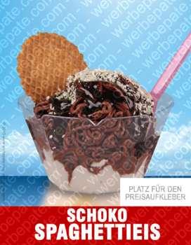 Schoko Spaghetti Eis -