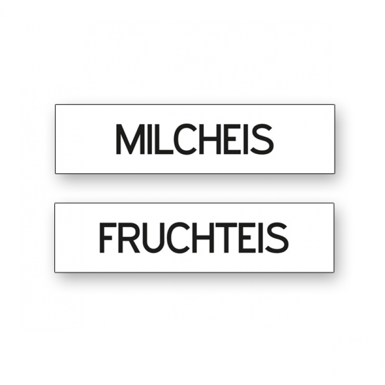 Magnetschilder Fruchteis / Milcheis -
