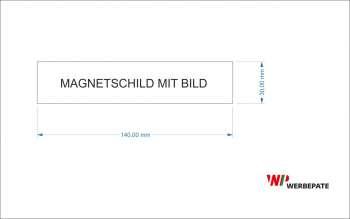 40 Magnetschilder -