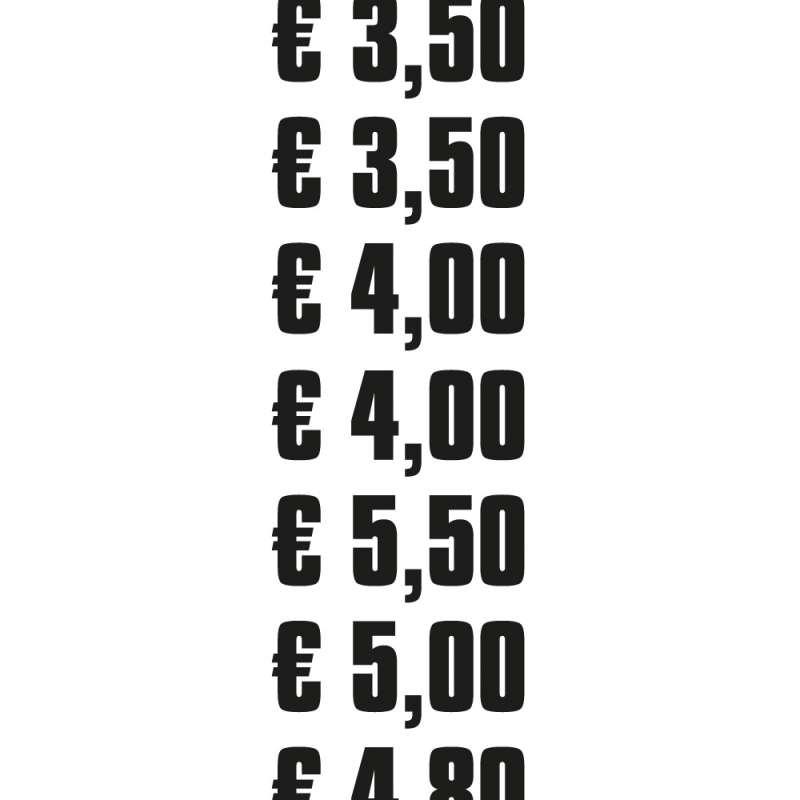 Produkt -Preis Aufkleber für Eisbecher